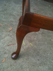 Leg of Antique Foot Stool
