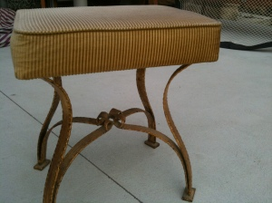Old bedroom stool