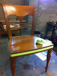 Clamped dining room chair